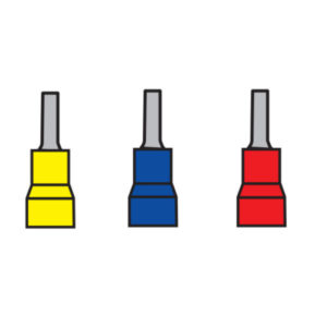Cosses à sertir isolées cosse ronde ø 2 mm et 2,9 mm bleu