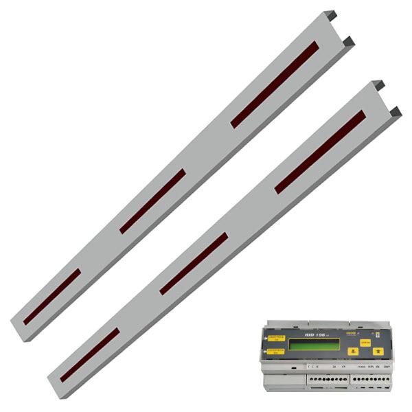 Plinthe avec détection de présence avec éclairage LED - 1600mm