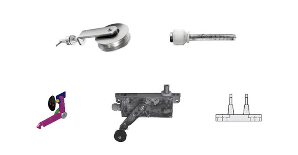 Accessoires de porte articulée pour monte-charge